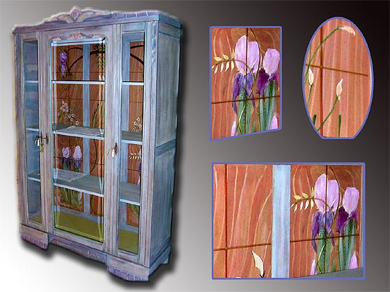 meuble peint armoire c rus e d tails. Black Bedroom Furniture Sets. Home Design Ideas